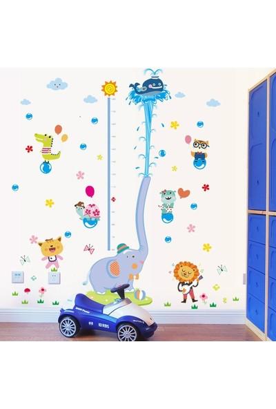 Crystal Kids Bebek Çocuk Odası Boy Ölçer Sevimli Fil Xl Duvar Sticker