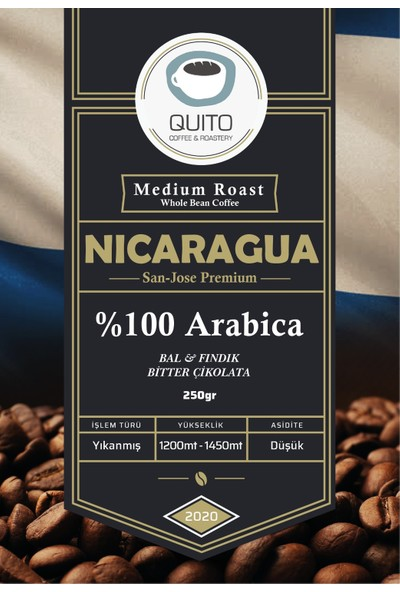 Quito Coffee - Nicaragua San Jose Premium Filtre Kahve 250 gr