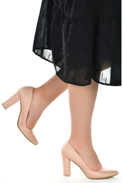 Ayakland 131012-311 Çizgili Cilt 8 Cm Topuk Kadın Ayakkabı
