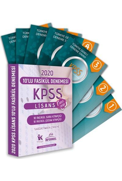 Informal Yayınları Kpss Lisans Gy - Gk Tg Kurumsal 10'lu Çözümlü Paket Deneme