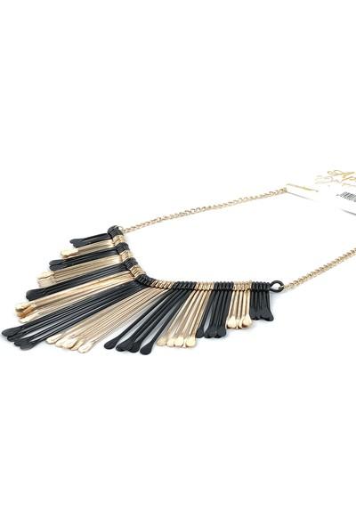 Aphrodite Accessories Metal Saçak Kolye
