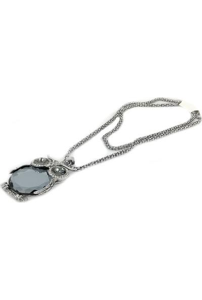 Aphrodite Accessories Kristal Taşlı Baykuş Kolye