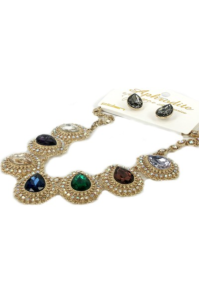 Aphrodite Accessories Kristal Taşlı Kolye