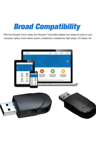 Schulzz 3in1 Mini Adaptör Dongle Bluetooth 5.0 USB Alıcı Verici