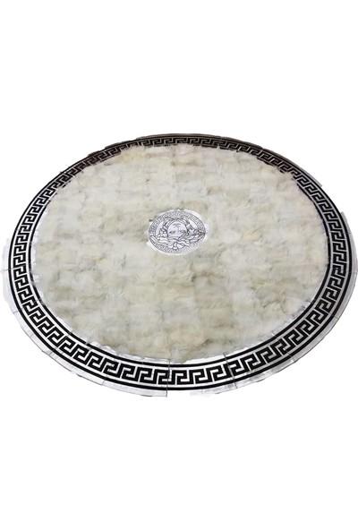 Bienna Fur Beyaz Doğal Toskana Oval Halı