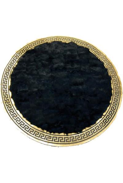 Bienna Fur Siyah Lazer Varaklı Doğal Toskana Halı