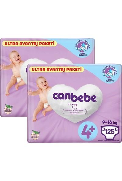 Canbebe Bebek Bezi 4+ Beden Ultra Avantaj Paket 125LI x 2 Adet