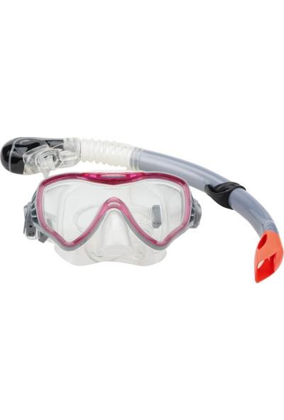 Vertex Fuşya Yetişkin Şnorkel Set
