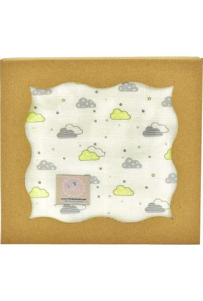 Mina'nın Düşleri Müslin Bebek Battaniyesi Bulut Sarı
