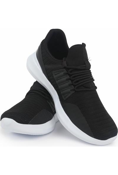 Tommy Life Siyah-Beyaz Erkek Spor Ayakkabı