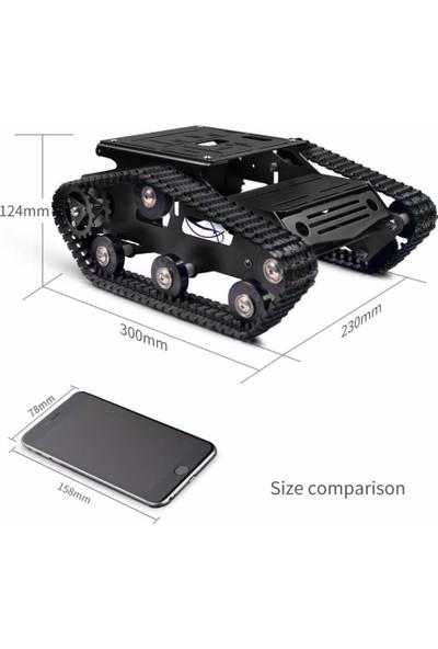 Xiaor Geek Akıllı Robot Araç Şasi Kiti Siyah