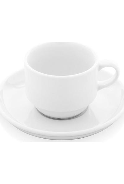 Güral Porselen Enternasyonel Çay Fincan ve Tabağı 6 Adet