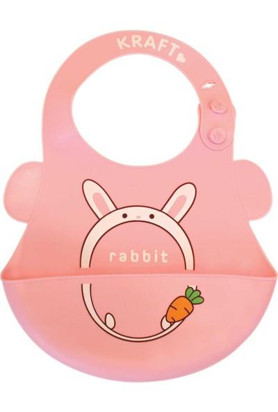 Kraft Silikon Bebek Önlüğü Pembe