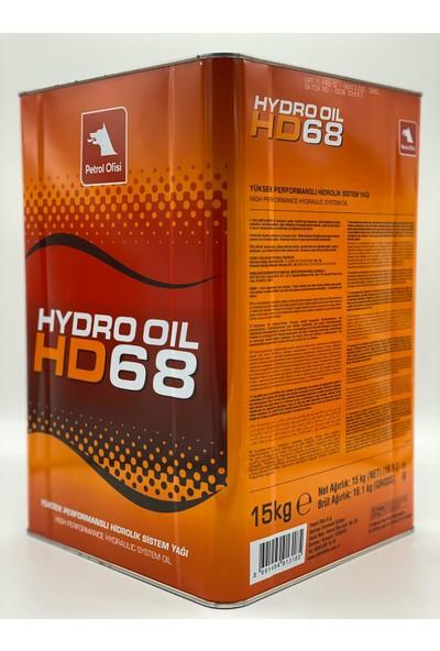 Petrol Ofisi Hydro Oil Hd 68 15 kg 17 lt Hidrolik Sistem Yağı