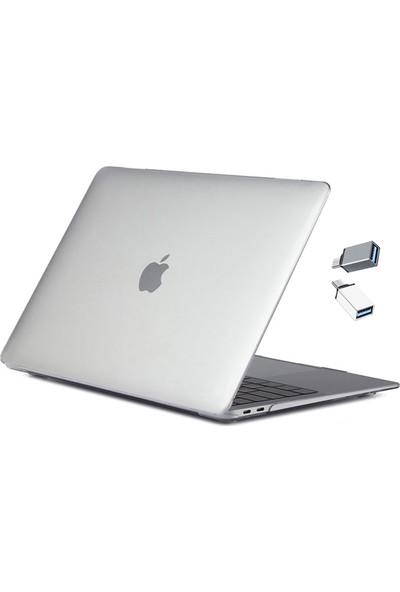 MacBook Air Kılıf 13inc HardCase A1932 A2179 A2337 Uyumlu Kristal Koruyucu Kılıf Parmakizi Bırakmaz 455