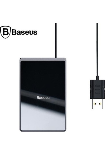 Baseus WX01B-01 Card Ultra-Thin İnce 15W Wireless Kablosuz Şarj Cihazı - Siyah