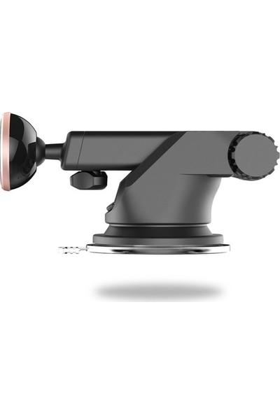 Baseus Solid Teleskopik Manyetik Araç Tutucu - Gümüş - SULX-0S
