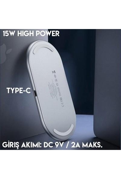 Baseus WXJK-02 Simple 2in1 Kablosuz Wireless Şarj 18W - Beyaz