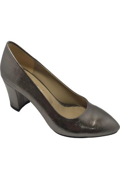 Norfix Gümüş-Gri Topuklu Ayakkabı