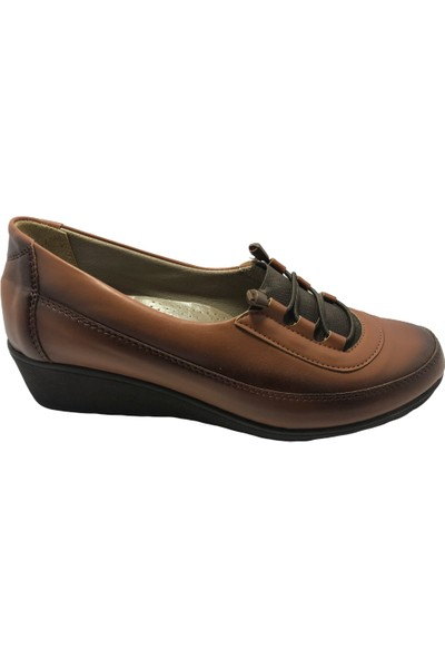 Norfix Taba-Finisaj Comfort Şık Günlük Kadın Ayakkabısı