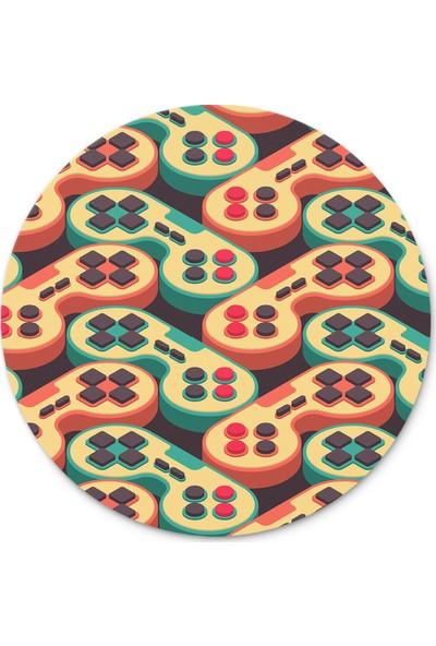 Cupgel Cpart Gamer Joystick Desenli Yuvarlak Mouse Pad