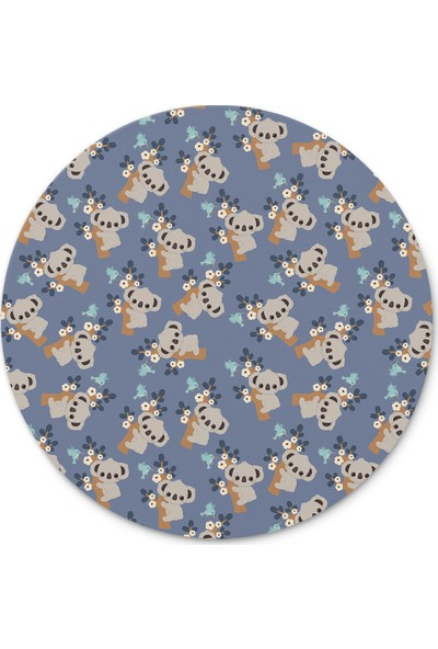 Cupgel Cpart Koala Desenli Yuvarlak Mouse Pad
