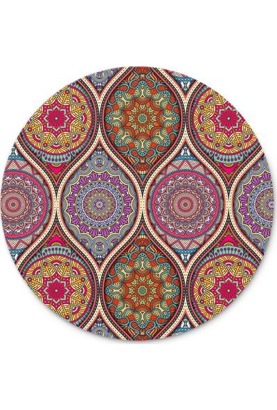 Cupgel Mandala Desen Yuvarlak Mouse Pad