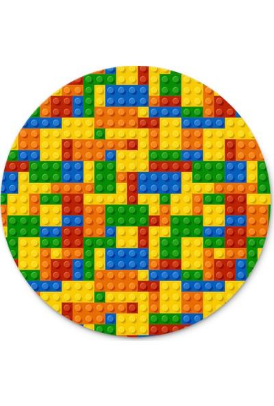 Cupgel Cpart LEGO Desenli Yuvarlak Mouse Pad