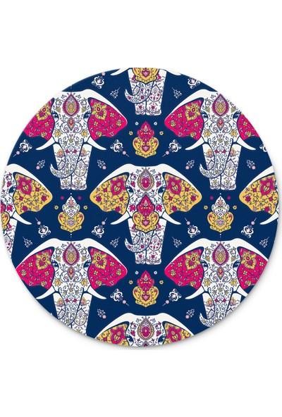 Cupgel Cpart Fil Mandala Desenli Yuvarlak Mouse Pad