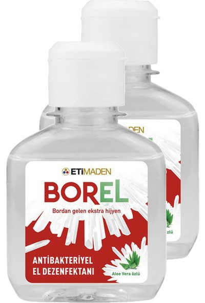 Eti Maden Borel Aloe Vera Özlü El Dezenfektanı 2'li 100 ml