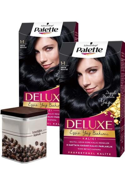Palette Deluxe 1-1 Gece Mavisi x 2 Adet + Turk Kahvesi