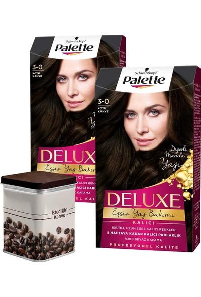 Palette Deluxe 3-0 Koyu Kahve x 2 Adet + Turk Kahvesi