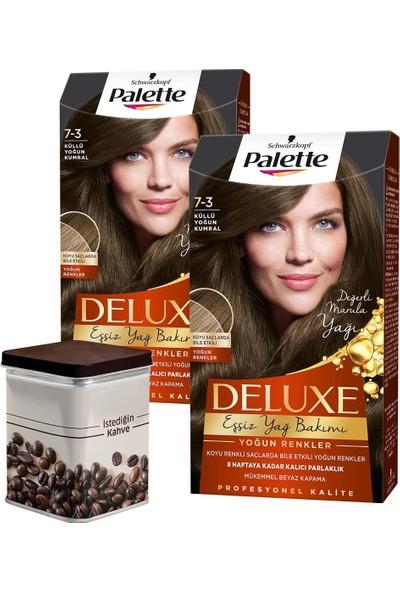 Palette Deluxe Yoğun Renkler 7-3 Küllü Yoğun Kumral x 2 Adet + Turk Kahvesi