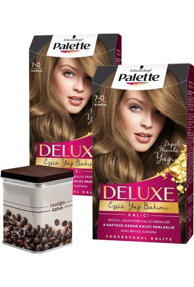 Palette Deluxe 7-0 Kumral x 2 Adet + Turk Kahvesi