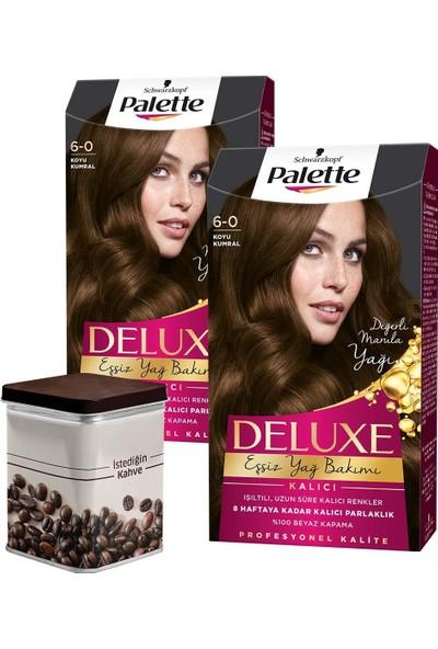 Palette Deluxe 6-0 Koyu Kumral x 2 Adet + Turk Kahvesi