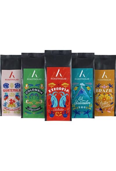 A Roasting Lab Seçkin Kahveler Deneme Paketi 5x50 gr