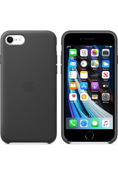 Apple iPhone SE 2.Nesil Deri Kılıf MXYM2ZM/A - Siyah