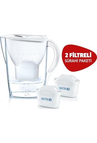 Brita Marella Cool Filtreli Su Arıtmalı Sürahi Beyaz - 2 Yedek Filtreli