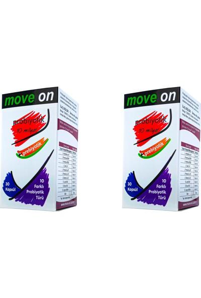Move On Probiyotik 2 Adet 10 Milyar+Prebiyotik 30 Kapsül