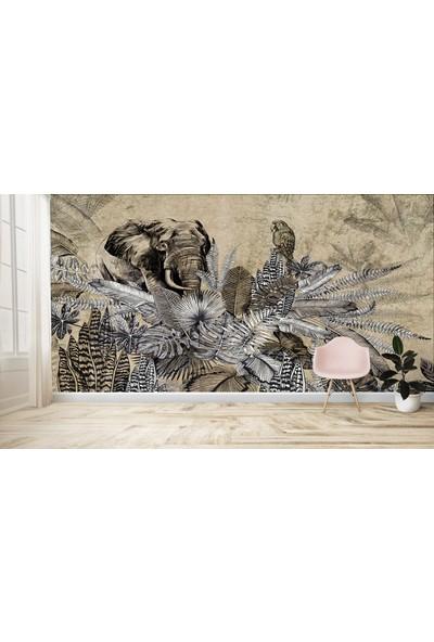 Dijiwork Tropikal Fil Desen Duvar Posteri