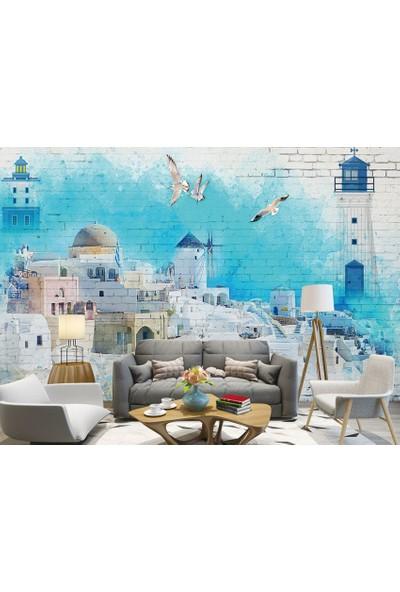 Dijiwork Santorini Duvar Kağıdı