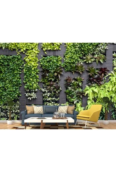 Dijiwork Yeşil Duvar Bahçesi Duvar Kağıdı