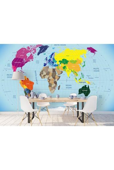 Dijiwork Dünya Haritası Duvar Kağıdı