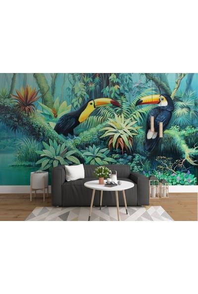 Dijiwork Tropikal Desenli Duvar Kağıdı