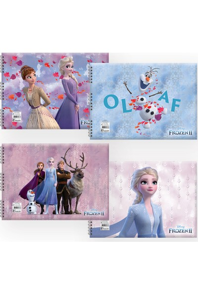 Keskin Color FrozenIı 17 x 25 Resim Defteri - 4'lü