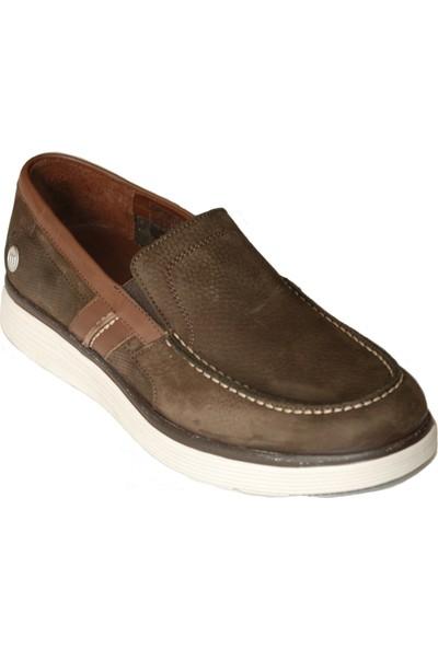 Mammamia D20YA 7540 Erkek Deri Ortopedik Marin Ayakkabı Kahverengi