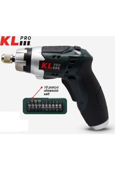 Kl Pro KLNM3613-BA Şarjlı Vidalama 10 Parça Aksesuar Setli