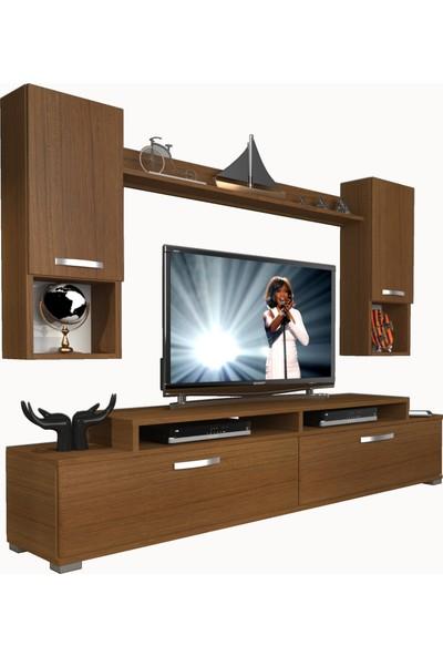 Decoraktiv Ekoflex 5da Mdf Tv Ünitesi Tv Sehpası Naturel Ceviz