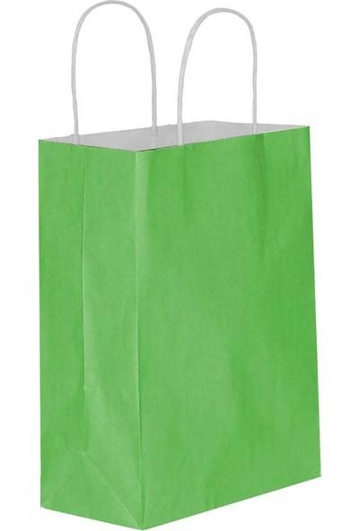 Eposet Yeşil Kağıt Hediye ve Alışveriş Çantası 18 x 8 x 24 cm 25'li