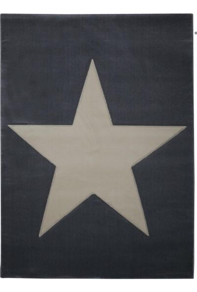 PoyPoy Süperstar Gri Beyaz 133 x 190 cm